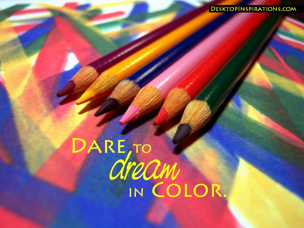 Dream in color inspirational wallpaper desktop - Dreaming of the color white ...