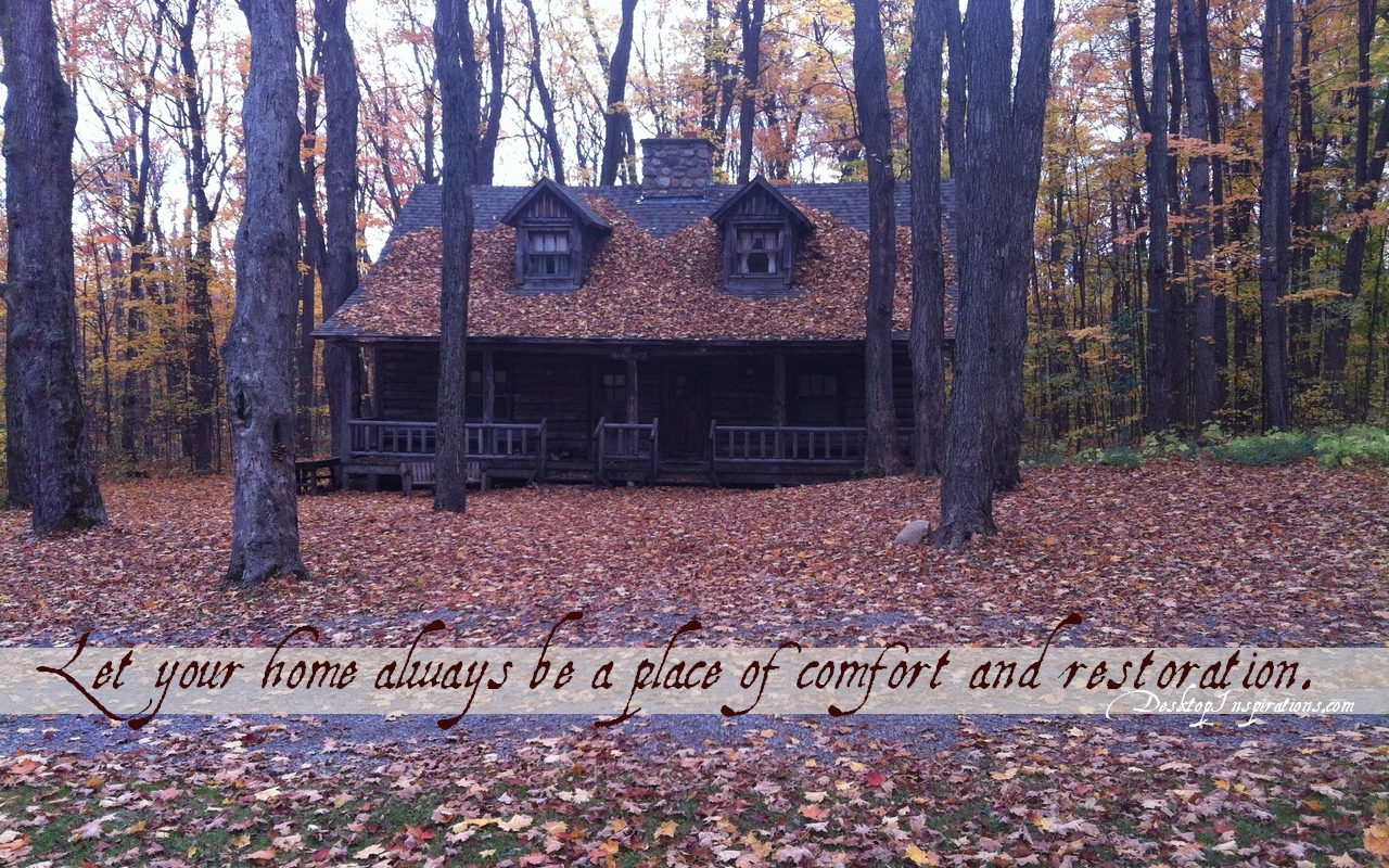 autumn cabin wallpaper desktop - photo #27